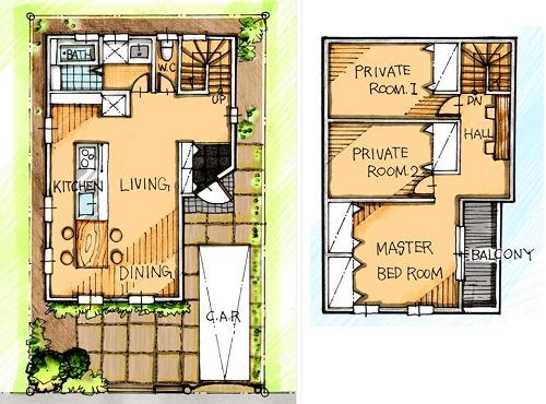 2 階 30 坪 建て 間取り 注文住宅の相場はいくら?30坪の費用や間取り実例を紹介